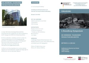 Das Programm des Symposiums